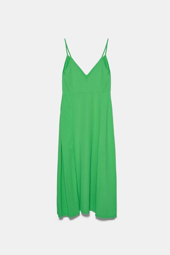 Zara φόρεμα χρώμα καλοκαίρι 2020