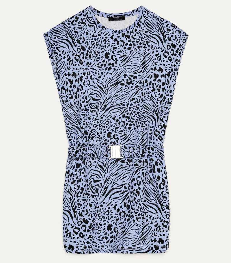 animal print φόρεμα, Bershka