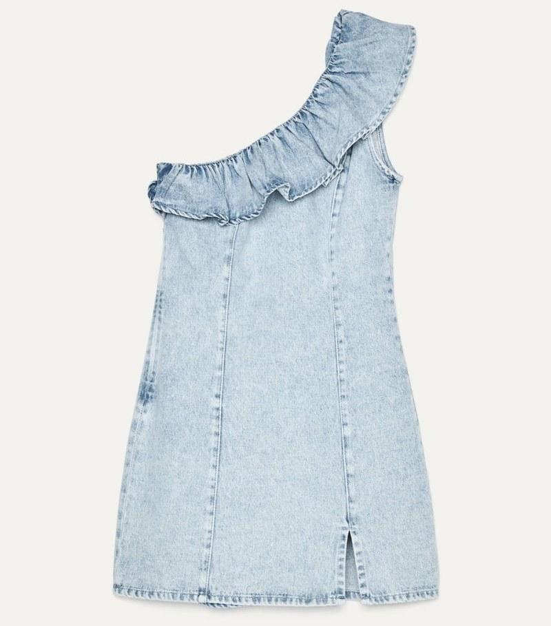 μίνι τζιν φόρεμα, Bershka